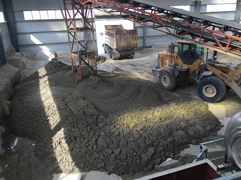 新型洗砂洗泥带式压滤机洗砂效果图